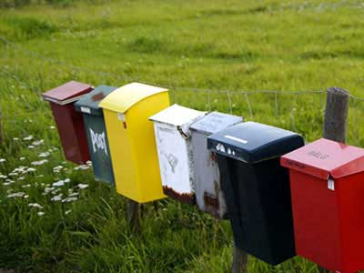Go to category: Post box signs
